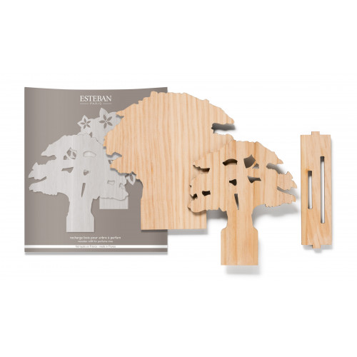 Wooden refill for perfume tree