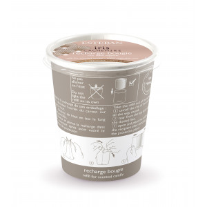Refillable decorative scented candle